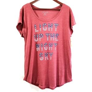 Lucky Brand | Red Light Up the Night Sky Tshirt
